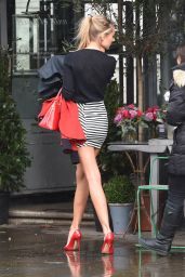 Kimberley Garner Leggy in Mini Skirt - Out in London, November 2014