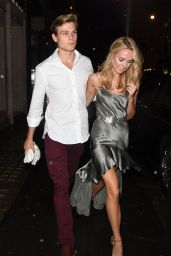 Kimberley Garner Night Out Fashion - Arrives at The Arts Club in London - November 2014