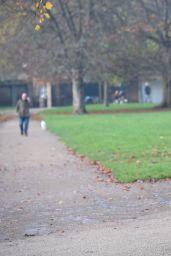 Kimberley Garner Style - Walking Her Dog in London - November 2014