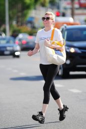 Kirsten Dunst Booty in Tights - Out in Studio City, October 2014