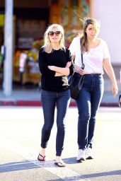 Kirsten Dunst Was All Smiles - Out With a Friend in the Toluca Lake - November 2014