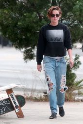 Kristen Stewart in Ripped Jeans - Out in Los Angeles, November 2014