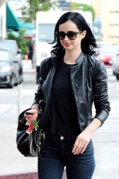 Krysten Ritter in Ripped Jeans - Out in Los Angeles, November 2014