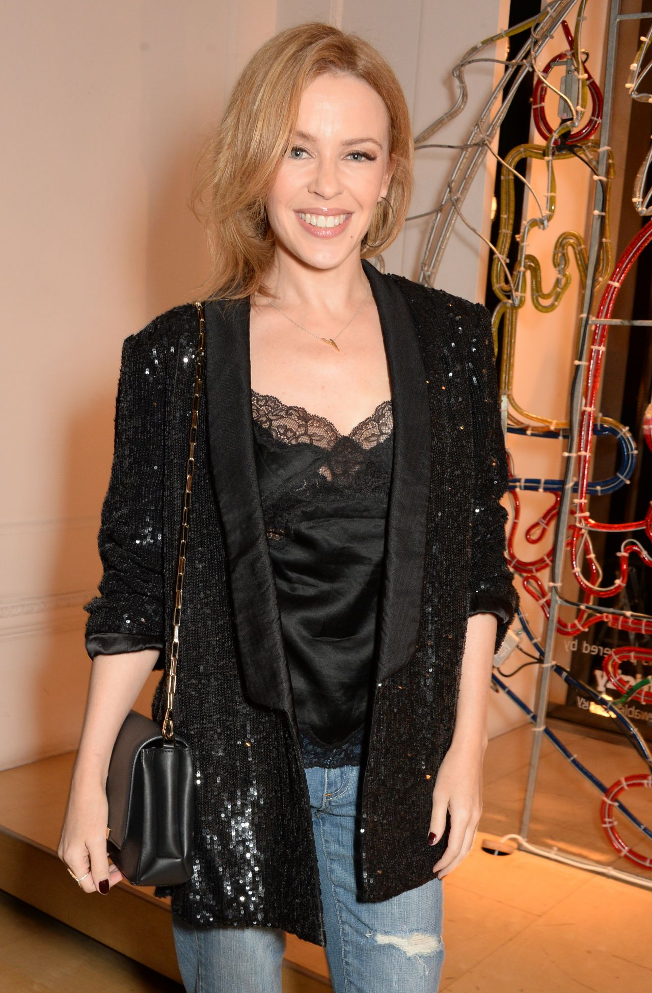 Kylie Minogue - at the Stella McCartney Christmas Lights Switch On In London - November 2014