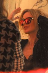 Kylie Minogue - Trying on Some Sun Glasses With Stella McCartney at Her Store