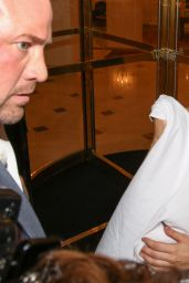 Lady Gaga in Ghostly Costume - Halloween 2014 in Paris