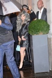 Lady Gaga Leaving Her Hotel in Milan - November 2014