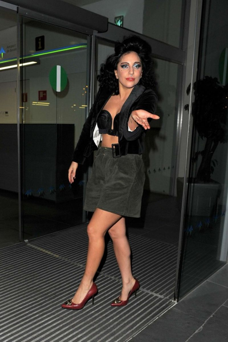 Lady Gaga Style - Out in Barcelona - November 2014