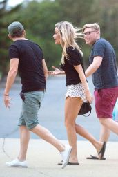 Laura Whitmore Leggy in Shorts - Shopping and more in Gold Coast Australia - November 2014
