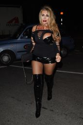 Lauren Goodger at The Kiss FM Halloween 2014 Party