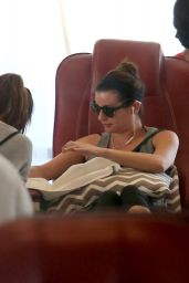 Lea Michele at a Nail Salon in Hollywood - November 2014