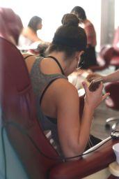 Lea Michele at a Nail Salon in Hollywood - November 2014