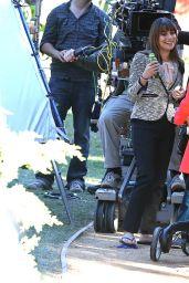 Lea Michele - on Set of