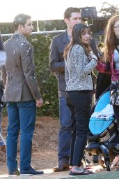 Lea Michele - on Set of