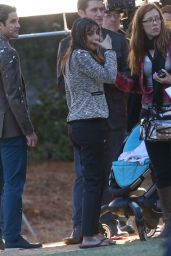 Lea Michele – on Set of 'Glee' in Los Angeles (Part II) – November 2014