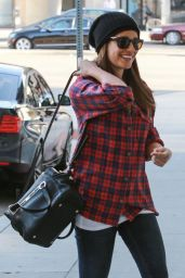 Lea Michele Street Style - at Nine Zero One Salon - November 2014