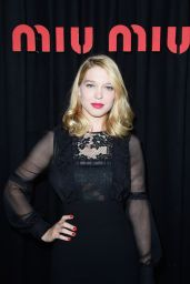 Lea Seydoux - Miu Miu Spring 2015 Fashion Show in Paris