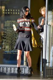 Liberty Ross Leggy in Mini Skirt - Leaves Barneys After Shopping - November 2014