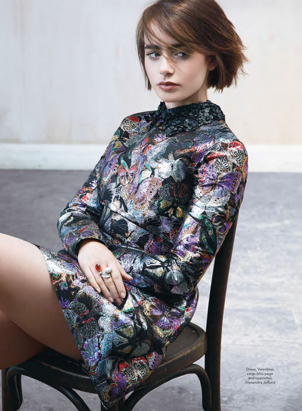 Lily Collins Marie Claire Magazine Uk October 2014
