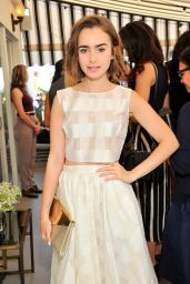 Lily Collins - Vanity Fair & Burberry Celebrate BAFTA LA and Britannia Awards at Chateau Marmont