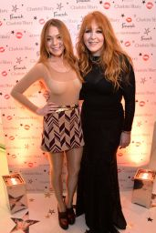 Lindsay Lohan - Backstage Beauty Booth Launch in London - November 2014