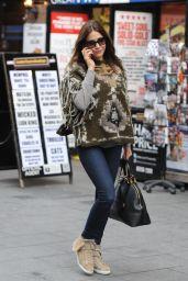 Lisa Snowdon Casual Style - Leaving Capital FM in London - November 2014