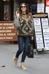 Lisa Snowdon Casual Style - Leaving Capital FM in London - November 2014