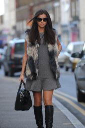 Lucy Mecklenburgh Style - Arriving at Her Boutique in Essex - November 2014