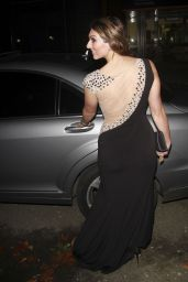 Luisa Zissman Night Out Style - Leaving the Spearmint Rhino, London - November 2014