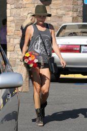 Malin Akerman Leggy in Shorts - At Gelson