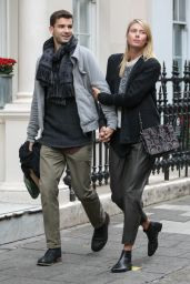 Maria Sharapova With Boyfriend - Shopping at Dover Street Market in London - November 2014