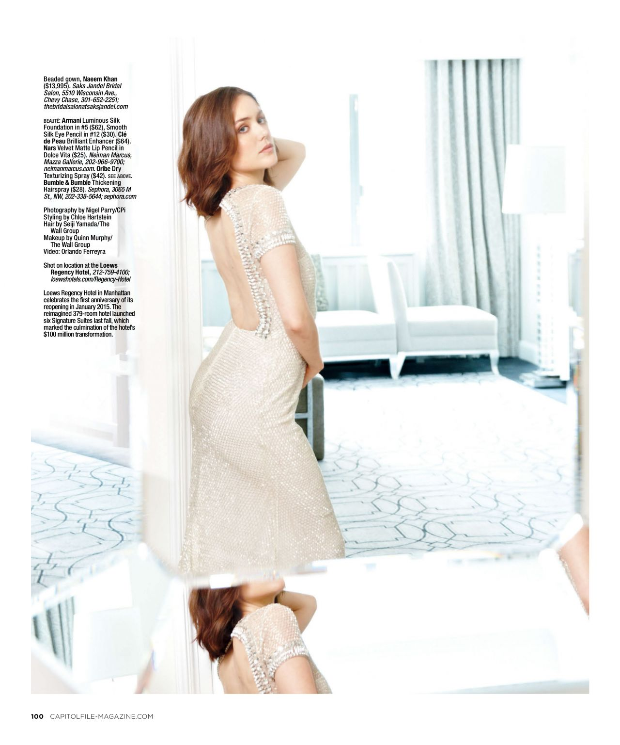 Megan Boone Capitol File Magazine 2014 Holiday Issue