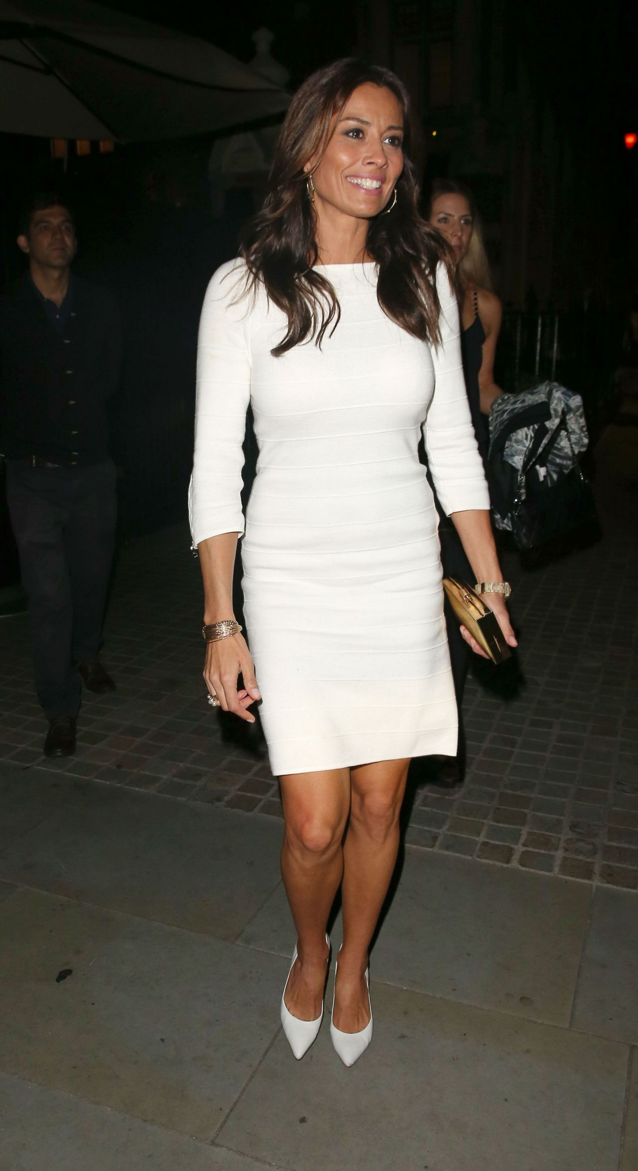 Melanie Sykes Night Out Style - Chiltern Firehouse (2014)