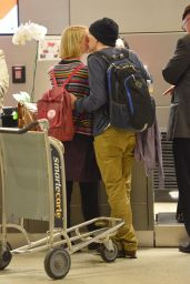 Mia Wasikowska & Jesse Eisenberg - Share a Kiss at LAX Airport - Nov. 2014
