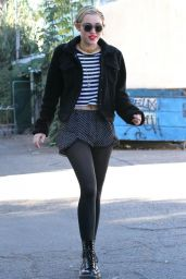 Miley Cyrus Leggy in Shorts - Shopping in Los Angeles, November 2014