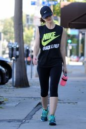 Minka Kelly Gym Style - Out in Los Angeles, November 2014