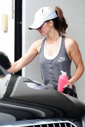 Minka Kelly - Leaving the Gym in West Hollywood - November 2014