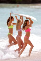 Monica Jagaciak, Behati Prinsloo and Elsa Hosk Bikini Candids – Victoria's Secret photoshoot in the Caribbean – November 2014