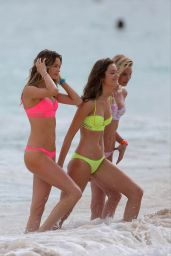 Monica Jagaciak, Behati Prinsloo and Elsa Hosk Bikini Candids – Victoria's Secret photoshoot in the Caribbean – November 2014