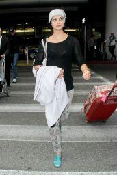 Morena Baccarin at LAX Airport - October 2014