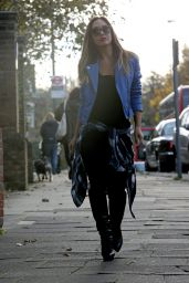 Myleene Klass Street Style -Out in London - November 2014