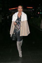 Myleene Klass Style - Leaving Capital FM in London - November 2014