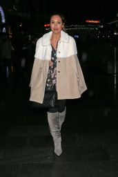 Myleene Klass Style - Leaving Capital FM in London - November 2014