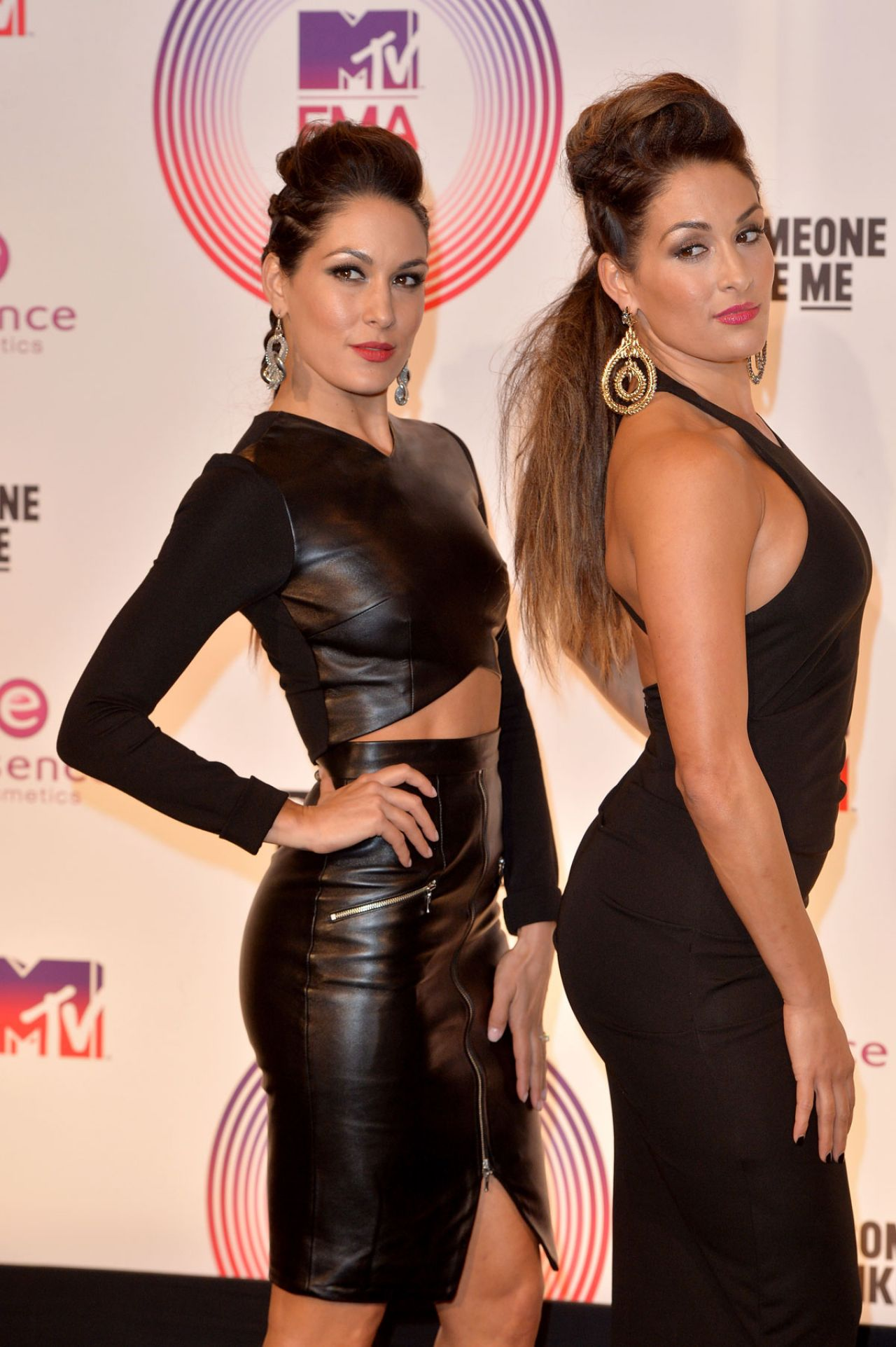 Nicole Garcia & Brianna Garcia (Bella Twins) at the MTV EMA