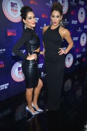 Nicole Garcia & Brianna Garcia (Bella Twins) at the MTV EMA