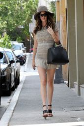 Nicole Trunfio Leggy in Mini Dress - Out in Sydney - November 2014