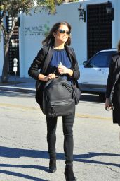 Nikki Reed Street Style - Shopping in Beverly Hills - November 2014