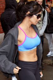 Padma Lakshmi - Heading to the Gym in New York City - November 2014