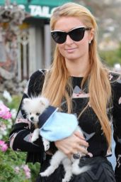 Paris Hilton and Her Pomeranian Puppy - November 2014