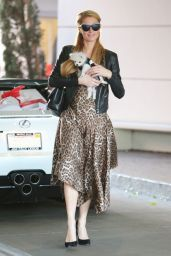 Paris Hilton Street Fashion - Shopping In Beverly Hills, November 2014